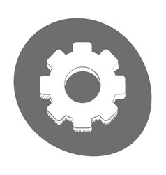 Gear engineer work cooperation icon color vector