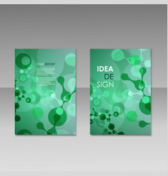geometric abstract modern colorful brochure vector image vector image