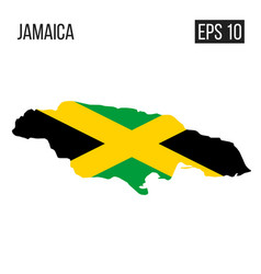 jamaica map border with flag eps10 vector image