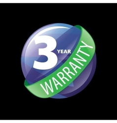 Logo 3 years warranty vector