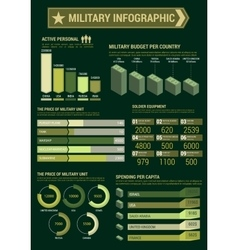 Military budget infographic template poster vector