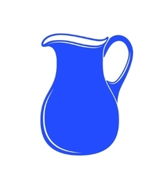 Milk jug or pitcher logo vector