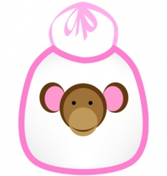 monkey bib vector image vector image