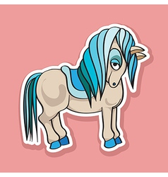 Pretty horse sticker vector
