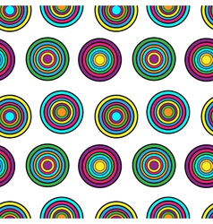 Purple yellow and green circles seamless pattern vector image vector image