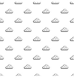 Rainy cloud pattern vector