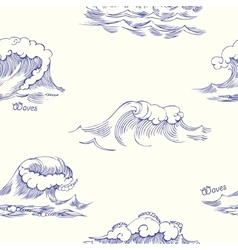 Seamless pattern with waves-02 vector image