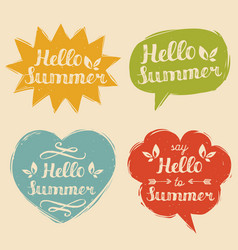 Set say hello to summer in vector