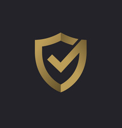 Shield check mark logo icon design template vector