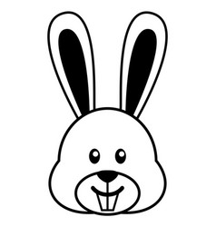 simple cartoon of a cute rabbit vector image