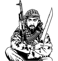 Sitting terrorist vector