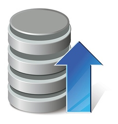 Upload database vector image vector image