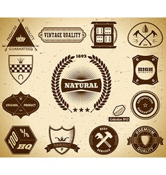 Vintage labels Collection 12 vector image