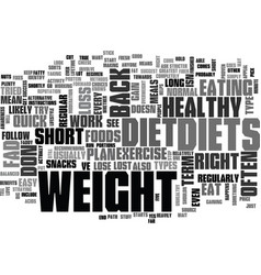 Why fad diets dont work text word cloud concept vector
