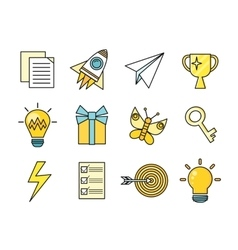 Idea generation icon set vector