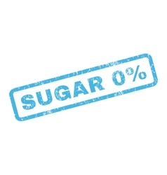 Sugar 0 percent rubber stamp vector