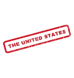 The united states rubber stamp vector
