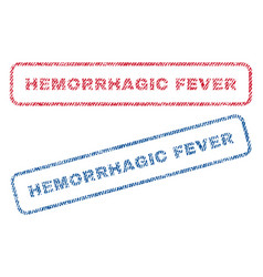 Hemorrhagic fever textile stamps vector