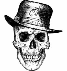 Pimp skull illustration vector