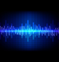 Square sound waves technology background vector