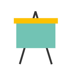 paperboard flipchart isolated icon vector image