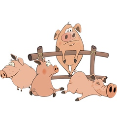 little pigs vector image