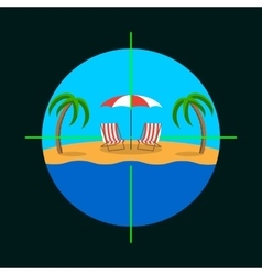Summer vacation target vector