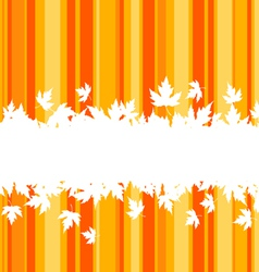 falling leaves on colorful background for seasonal vector image