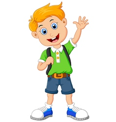Cute boy cartoon posing vector
