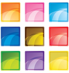 square buttons vector image