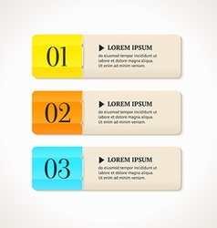 Modern option banners color numbered banners vector