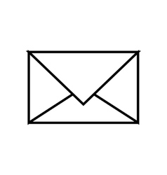 simple envelope black over white background vector image