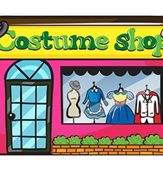 A costume shop vector image vector image