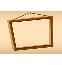 A wooden hanging frame vector