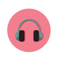 Audio headphone icon graphic vector