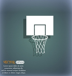 Basketball backboard icon on the blue-green vector