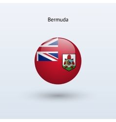 Bermuda round flag vector