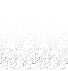 Black and white background with leaves vector image vector image
