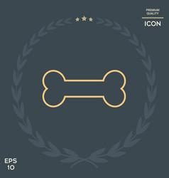 bone line icon vector image