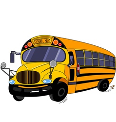 cartoon school bus vector image