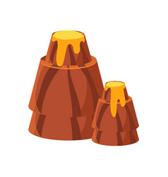 chocolate mountains colorful cartoon vector image vector image