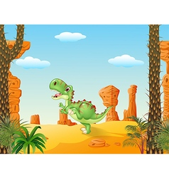 Cute tyrannosaurus running vector image