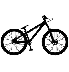 Dirt jump mountain bike vector image