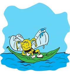 Drowning bee vector