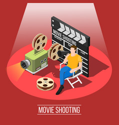 Film shooting background concept vector