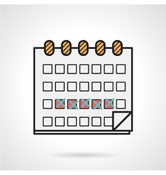 Flat icon for menstrual calendar vector