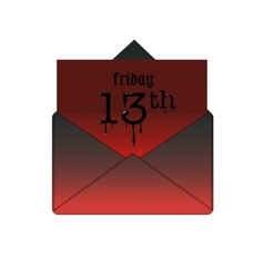 Friday the 13th banner in envelope vector