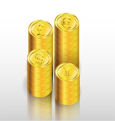 Gold coin background vector