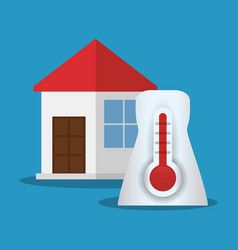 House thermometer temperature symbol vector