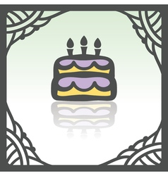 outline birthday cake with candles icon Modern vector image